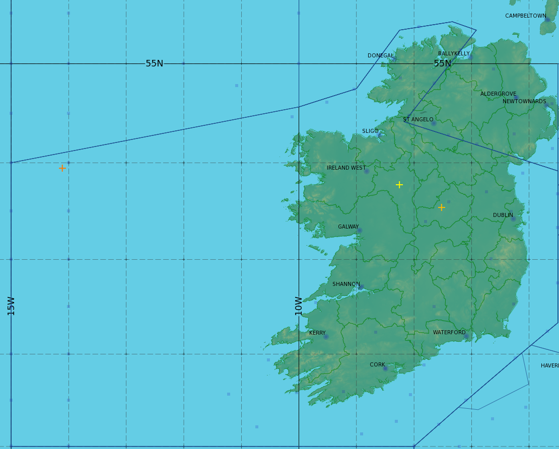 Map Of Ireland Knock Airport.Aviation Services Division Met Eireann The Irish Meteorological