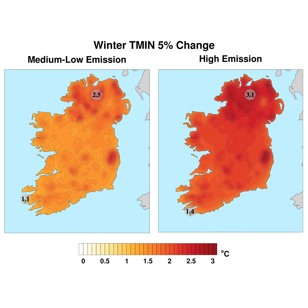 Map Of Ireland 2050.Climate Change Met Eireann The Irish Meteorological Service