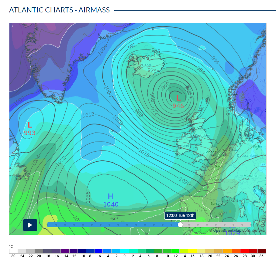 Atlantic chart - Airmass