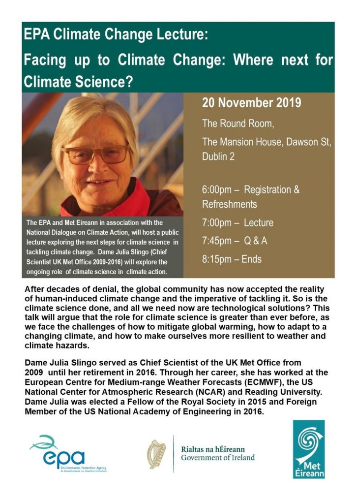 EPA Climate Change Lecture flyer