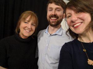 Episode 6 selfie - Evelyn Cusack, Noel Fitzpatrick, Liz Walsh