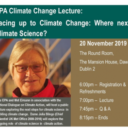 Lecture: Facing up to Climate Change: Where next for Climate Science?