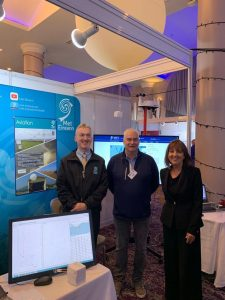 Valentia Observatory staff Charles Gilman, Chief Scientist Mike Gill, and Evelyn Cusack at the Met Éireann stand at STEM SW in Cork