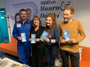Science Week in Cork on 'Today with Maura & Daithi'. Romain Charles (Astronaut) Evelyn Cusack, Head of Forecasting, Met Éireann, Dr. Niamh Shaw (Engineer) and Andrew Smith (Aerospace Engineer and British Bake-Off finalist)