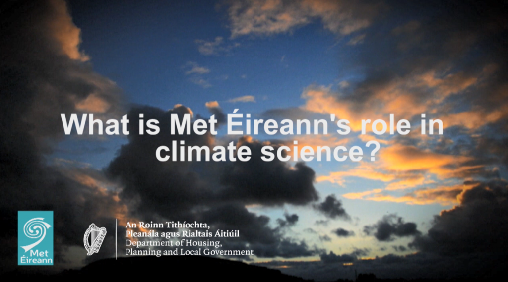 What is Met Éireann's role in climate science?