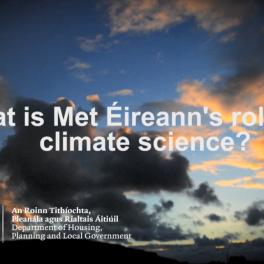 Met Éireann's work on Climate Change