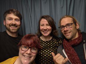 L-R Podcast selfie! Noel Fitzpatrick, Dr. Sarah Gallagher, Liz Walsh, Seamus McGoldrick