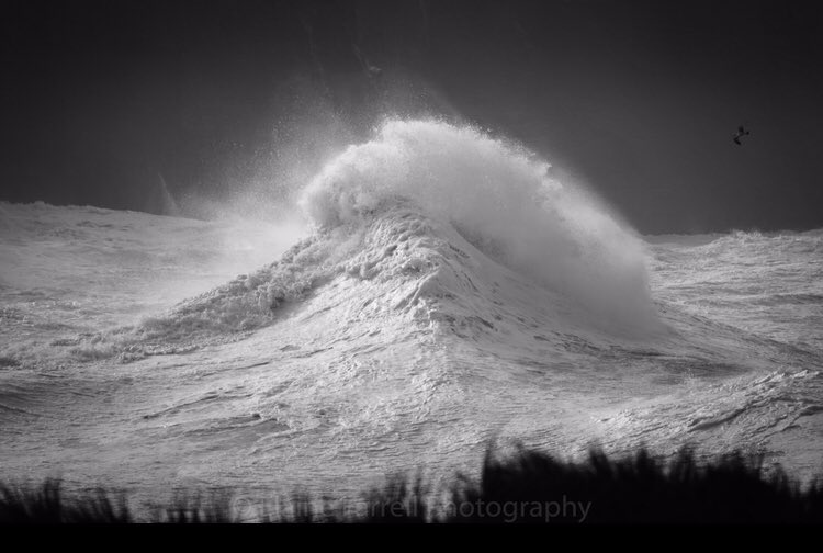 Image Courtesy of Elaine Farrell Photography. Taken at the base of the Cliffs of Moher, Co. Clare on Sunday 16th February 2020 during Storm Dennis around 11am. Photo taken using a Nikon D850 with 200-500 lens.