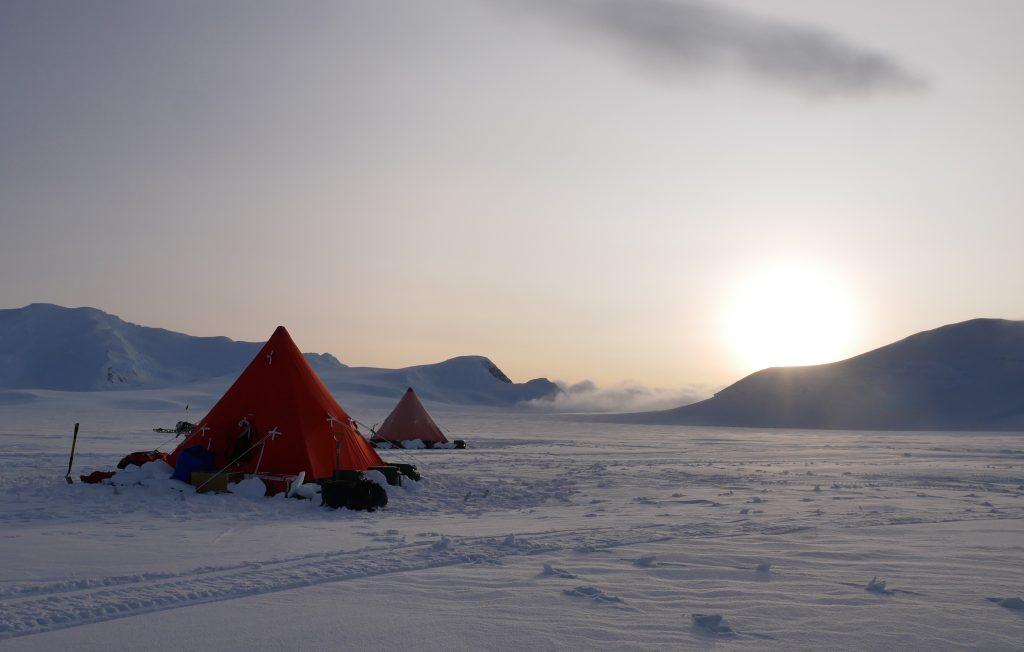 Field site visit in Antarctica. Credit: John Law