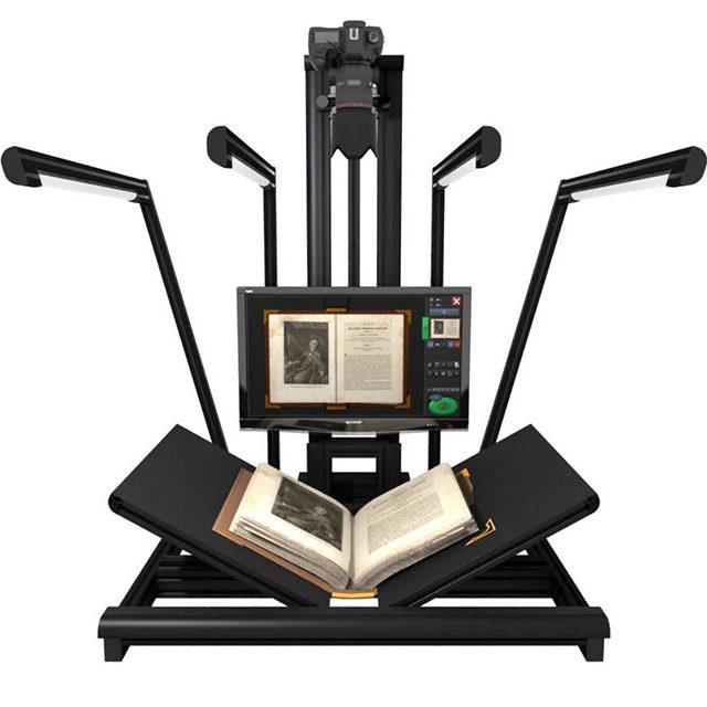 Metis EDS Gamma professional digital scanner used to image historical meteorological registers held in Met Éireann