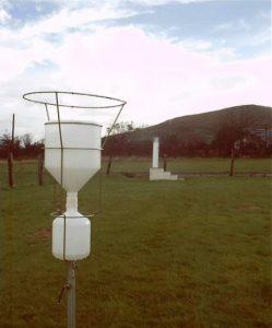 Figure 1 Rainwater sampling at EMEP sites