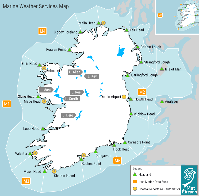 Marine Weather Services Map