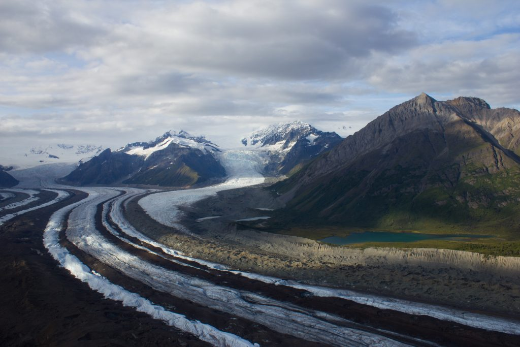Flying over Kennicott glacier in Alaska (picture by Noel Fitzpatrick)