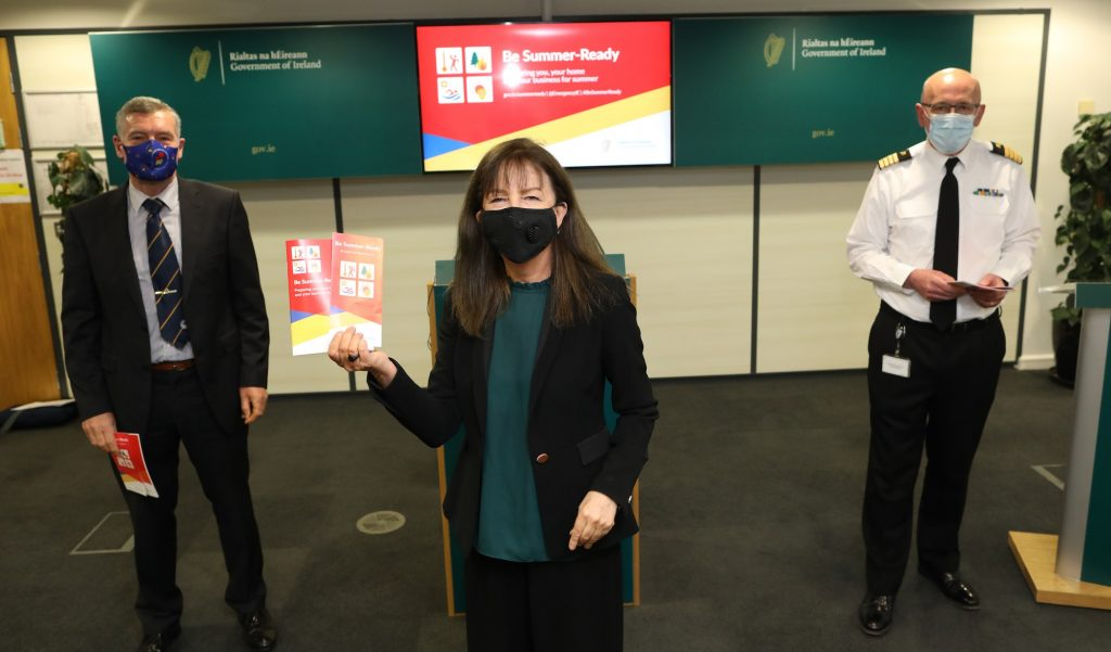 Evelyn Cusack at the Be Summer-Ready campaign launch on 21st April
