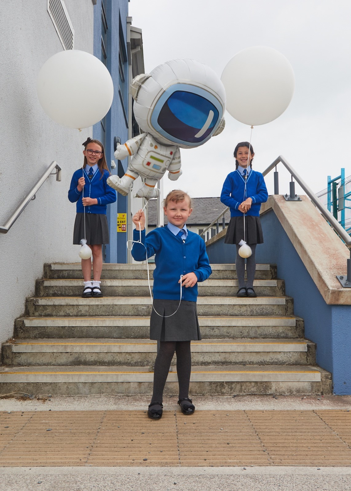 Pupils at Scoil Mhuire Oranmare, Galway, who are taking part in the NUI Galway led 'SpaceShip Earth' mission