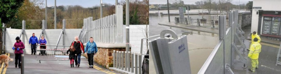 Examples of flood defences